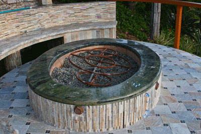 To replace a futile attempt of burner rings by the contractor. If you don't  want your rings to rust, cover them or purchase stainless steel. - Turn Your Old Lava Rock Into A Modern Glass Fire Pit. Our Fire