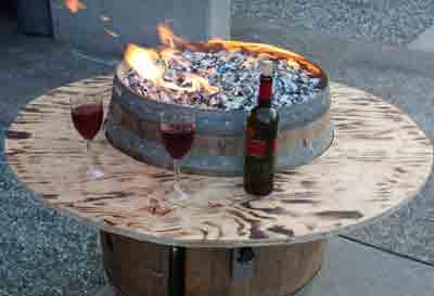 wine barrel 1 ... - Convert A Wine Barrel Into A Safe Outdoor Firepit.