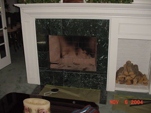 gas fireplace glass