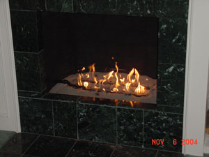 sand base fireplace
