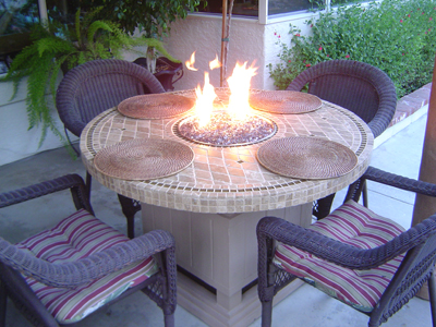 How To Make A Wood Table Into An Outdoor Fire Pit With