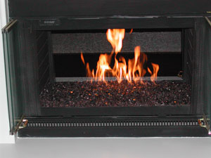Picture samples of modern fire glass fireplaces and garden fire pits.