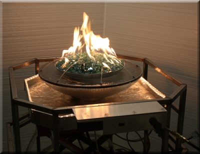 Fireglass fountian custom fire and water designs for outdoor deck designs