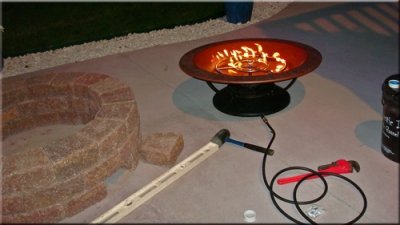 How to build a natural gas or propane outdoor fire pit using