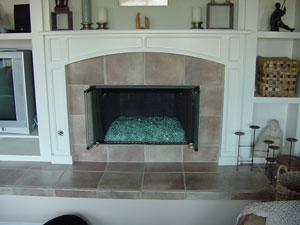 fireplace ideas with fireglass
