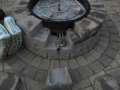 How to build a Propane Fire Pit Step by Step with air mixer and