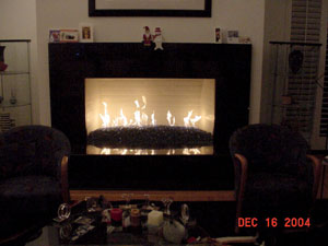 fireplace ideas with glassfire