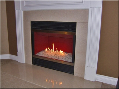 Moderustic Clear Pyrite Fireglass For Natural Gas Fireplaces