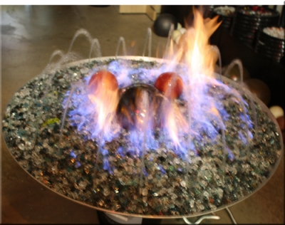 Backyard Fire Pit Designs Using Fire Glass Rock