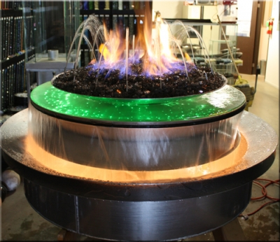 Custom fire and water features designed with fireglass and LED lights ... - FireGlass Patent, Moderustic U.S. Patent No. 8,419,505 C1 For Our