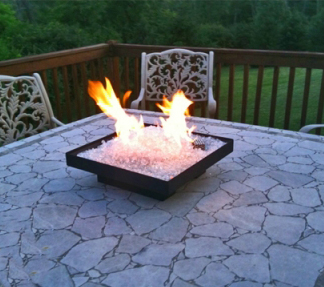 Portable Fire Pit with Fireglass