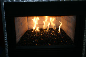 Black reflective fireglass, as base glass for you fireplace or ...