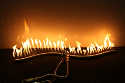 Custom steel and stainless steel fireplace pipe burners for ...