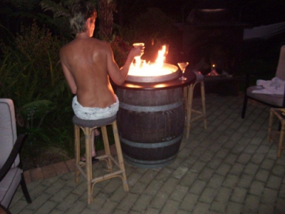 - Convert A Wine Barrel Into A Safe Outdoor Firepit.