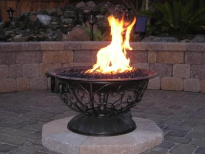 Outdoor Fire Pit Ideas Using Fire Glass Modern Outdooor