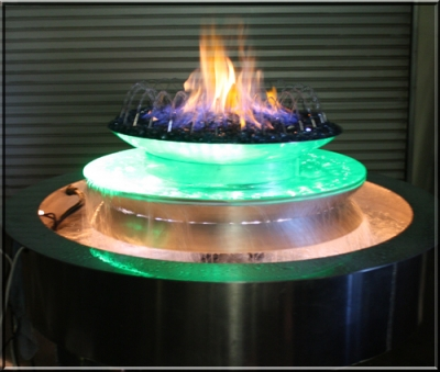 Outdoor Custom Fire And Water Feature Firefalls With Pit Avialable In Either Propane Or Natural Gas