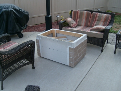 These Fire Tables Pits Were Accomplished Remotely By Diy Ers All Over The Country This Particular Table Was A Wood Frame With Brick Encasing