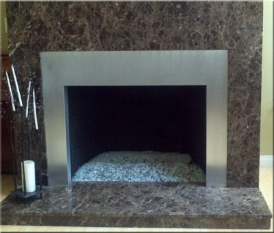 Custom metal frames / surrounds for fireplaces or fire area