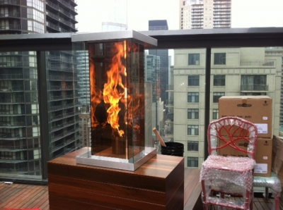 Outdoor Fire Feature Custom Metal Fabrication In Gl Features Propane Or Natural Gas