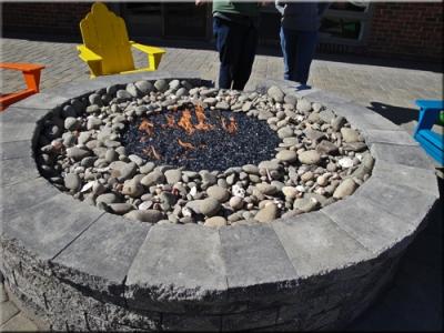 Fire Pit Filler Crushed Lava Rock Dark Fireplcae Fillers