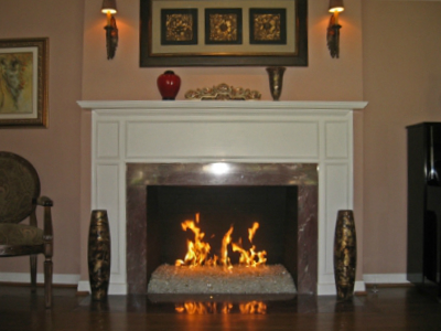 Moderustic Fireplace Design Starfire Fireglass For Indoor Or Outdoor Applications