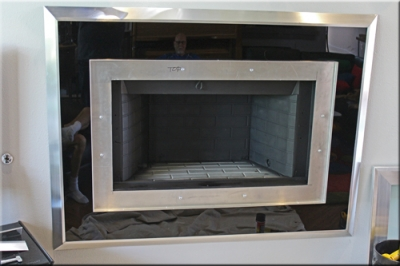 Aluminum or Stainless Steel fireplace surrounds. Stainless steel custom frames for fireplaces.