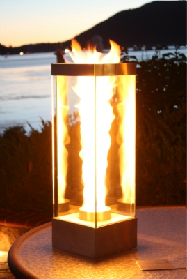 Outdoor Custom Fire And Water Feature Firefalls With Fire