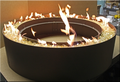Custom Centerless Fire Pit Rings Propane Or Natural Gas