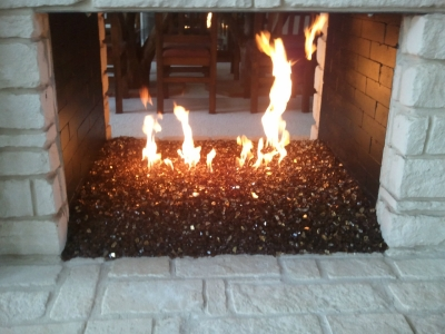 Picture Gallery Of Fireplace Conversion To Fire Glass Fire