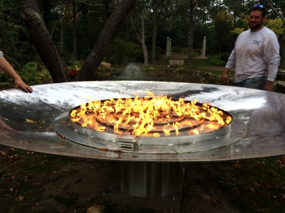 Outdoor Fire Pit Ideas Using Fire Glass Modern Outdooor