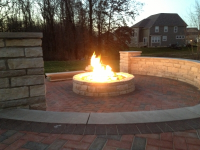 Custom Fire Pit Conversion To Fireglass Exsisting Fire