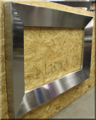 Aluminum Or Stainless Steel Fireplace Surrounds Custom Frames For Fireplaces