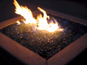 Cobalt Blue Fire Crystals Can Be Sprinkled Over Fireglass