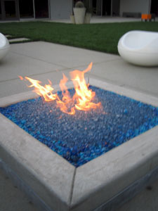 Cobalt Blue Fire Crystals Can Be Sprinkled Over Fireglass
