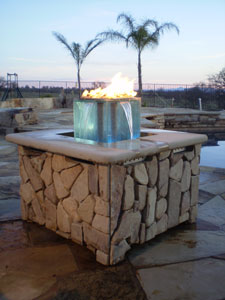 Outdoor Custom Fire And Water Feature