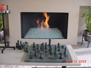 Fireplaces pictures of gas fire glass designed with ...