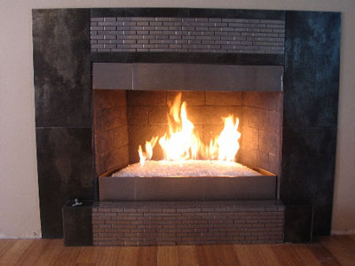 Custom Fireplace Pans Propane Or Natural Gas Decorative