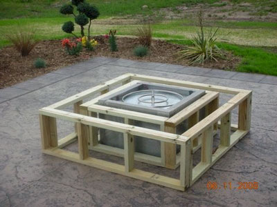 how to make a wood table into an outdoor fire pit with glassel fireglass. Black Bedroom Furniture Sets. Home Design Ideas