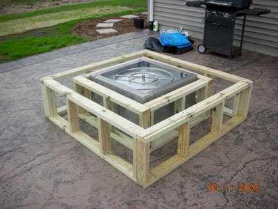 Wood Table Into An Outdoor Fire Pit