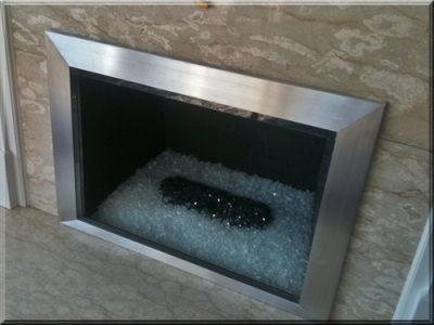 Custom Burners Propane Natural Gas Fireplace Glass
