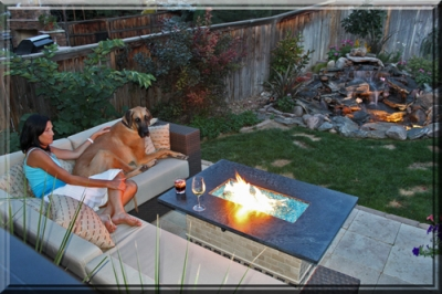 Convert An Old Fire Pit Into A Modern Glass And Fire Pit