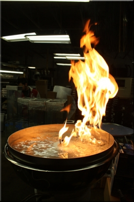 Fire And Water Feature For Table Tops Stainless Steel