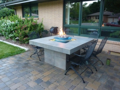 Custom Outdoor Stainless Steel Fire And Water Fountain